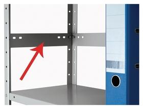 Метал.мебель практик планка огранич. Ms-40 (20шт/упак)  Практик