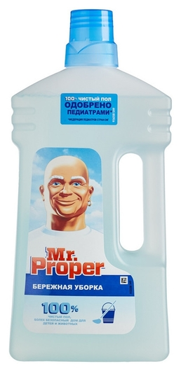 Средство для мытья пола Mr. Proper бережная уборка 1л Mr. Proper