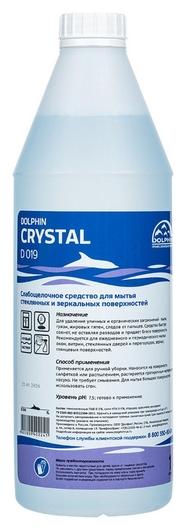 Профхим для стекл-зеркал поверхн,мытьё Dolphin/crystal (D019), 1л  Dolphin