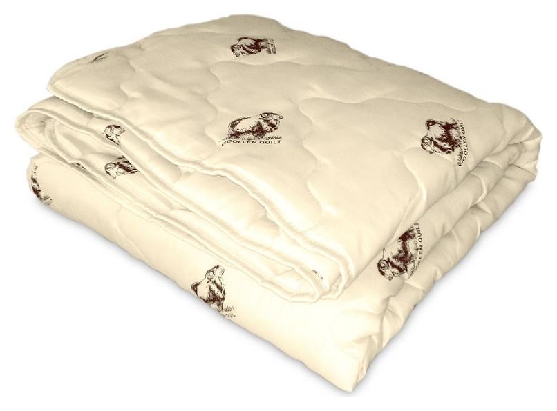 Одеяло Miotex 140х205 овечья шерсть, летнее(мшпэ-15-1  Ol-tex