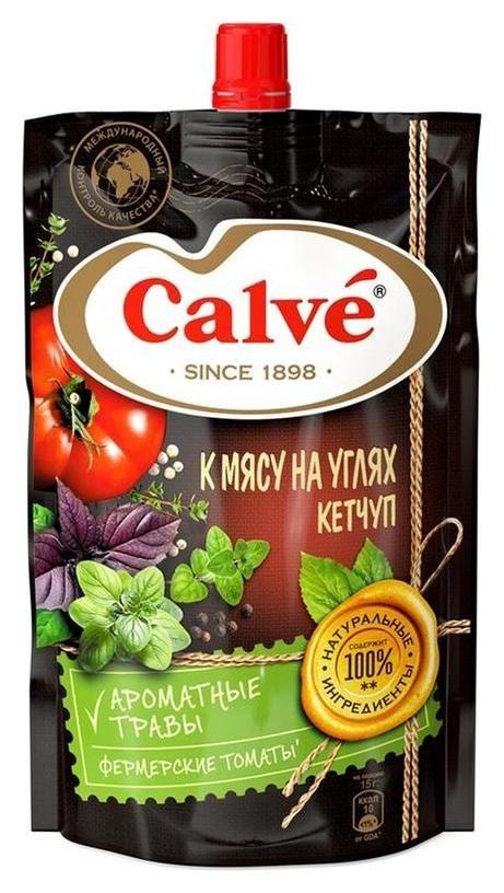 Кетчуп Calve к мясу на углях дой-пак, 350 г  Calve