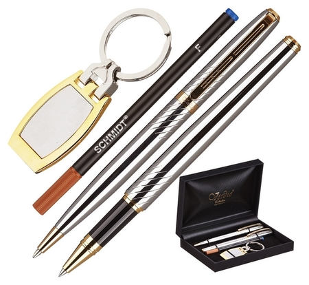Набор пишущих принадл. Verdie Ve-53 ручка+роллер+брелок,дерев.футляр тайван  Verdie
