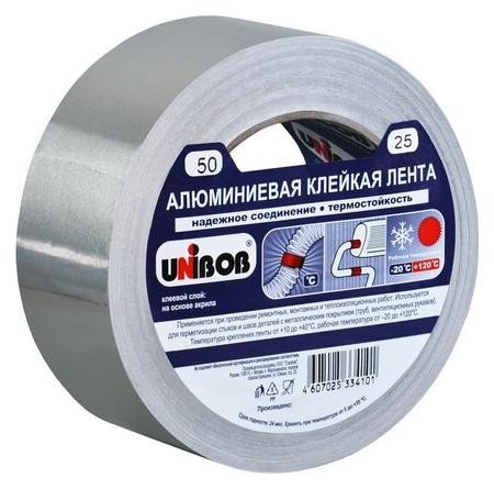 Клейкая лента алюминиевая 50 мм х 25 м  Unibob