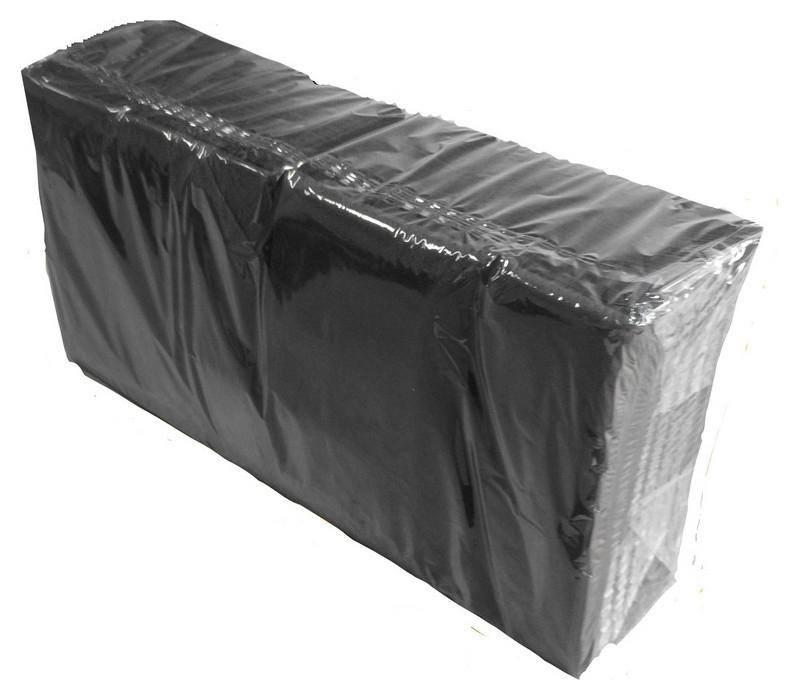 Салфетки 2-сл. 33х33 черные 200 шт./уп NNB