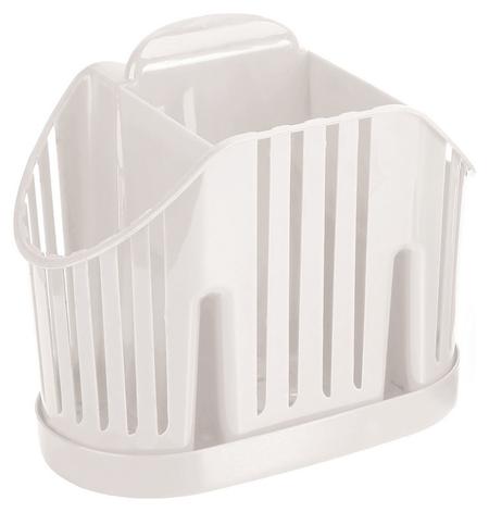 Сушилка для столовых приборов 3-х секционная белая м-1160  Idea
