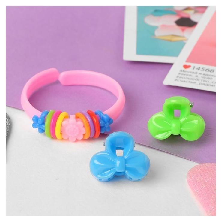 """Комплект детский """"Выбражулька"""" 3 предмета: 2 крабика, браслет, бантик  Выбражулька"""