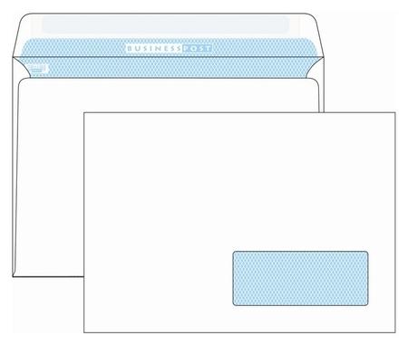 Конверты Бел C5 стрип пр окноbusinesspost 162х229 1000шт/уп/2960 Packpost