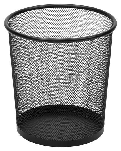 Корзина круглая, метал. сетка,d225мм, 6,7л.(Черная)  Attache