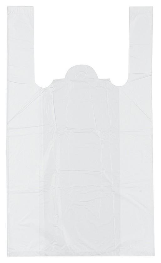 Пакет майка ПНД 25+12х45 12мкм 100шт./уп. белая  Знак качества