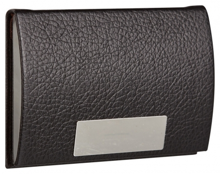Визитница карманная черного цвета на 20 визиток 80104  NNB