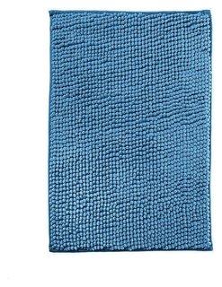 Коврик для ванной микрофибра 40х60см (В рулоне), шенилл синий  NNB