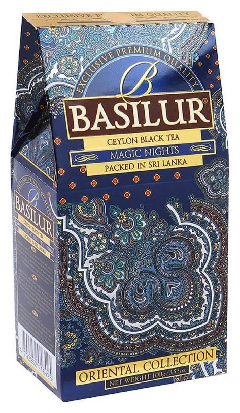 Чай Basilur восточная коллекция волшебные ночи листовой черный, 100г 71377  Basilur