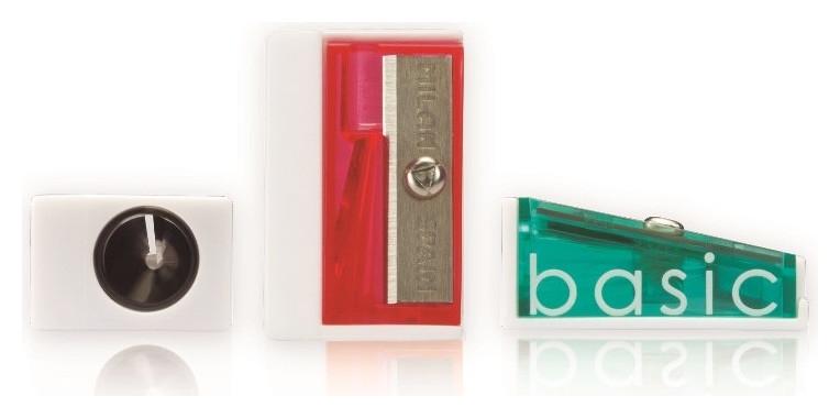 Точилка Milan Basic, 1 отверстие, пластик, цвет в ассорт. 2,8х1,8х1,2  Milan