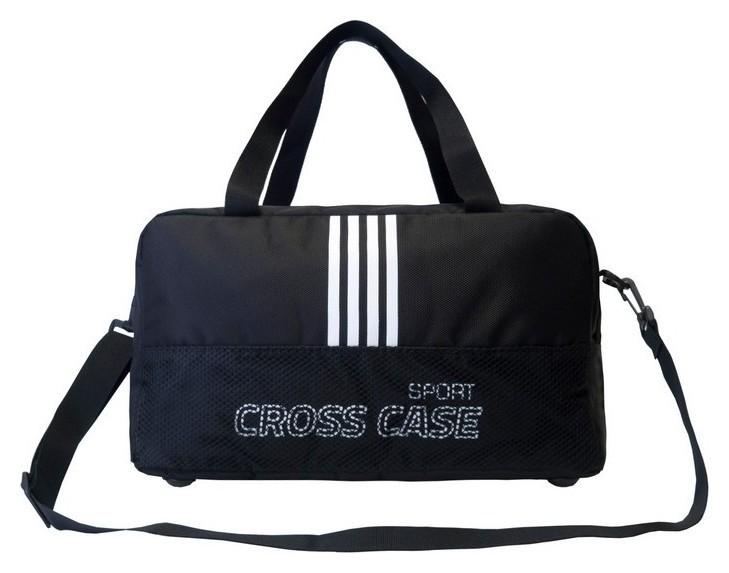 Сумка спортивная (С сеточкой) 42х18х20 Ccs-1043-03 цвет: черн./бел.  Cross Case