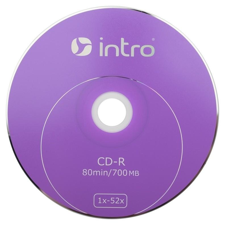 Носители информации Cd-r, 52x, Intro, Shrink/25, б0016205  Intro
