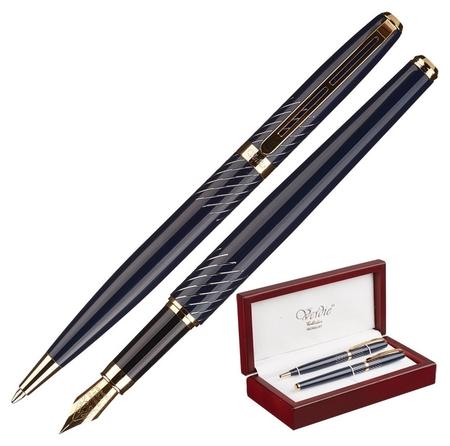 Набор пишущих принадл. Verdie Cfb-23w перо+шарик.ручки, дерев.футляр тайван  Verdie
