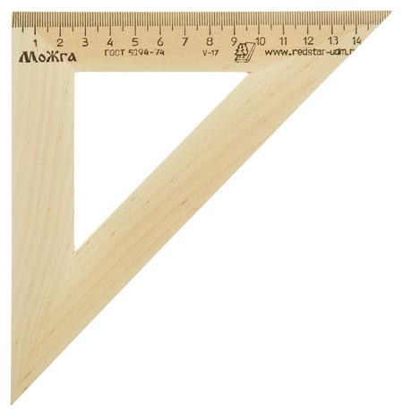 Треугольник деревянный 16см ,угол 45 градусов, можга с-16  Можга
