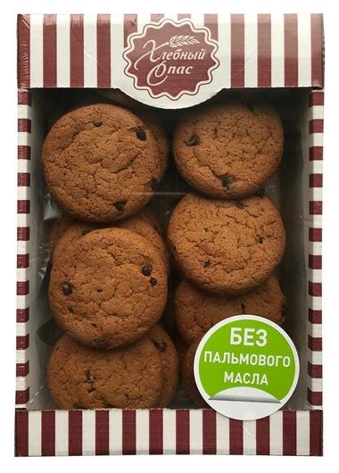 Печенье овсяное с кусочками шоколада 500 г.  Хлебный спас