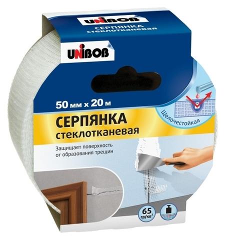 Клейкая лента серпянка 50мм х 20м Unibob стеклотканевая  Unibob