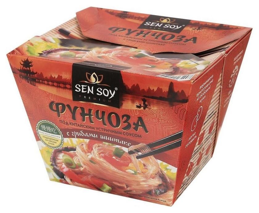 Лапша фунчоза Сэн Сой под китайским устричным соусом 125гр  Sen Soy