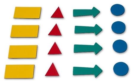 Символы магнитные 2х3 для доски, 4 шт.  2x3