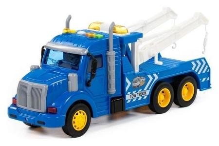 Автомобиль-эвакуатор «Профи», инерционный, со светом и звуком, цвет синий  Полесье