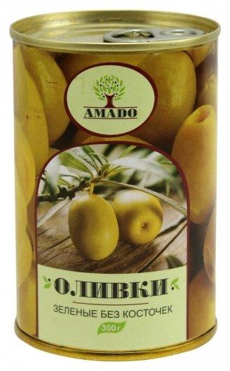 Консервация оливки без косточек 300 г  Amado