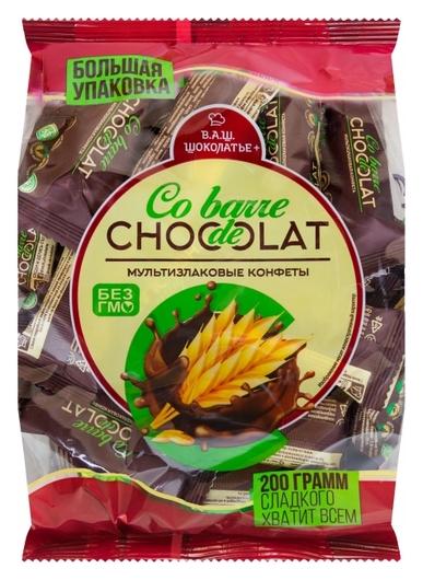 Конфеты Co Barre De Chocolat мультизлак. с тем.кондитерской глазурью, 200г  Co barre de Chocolat