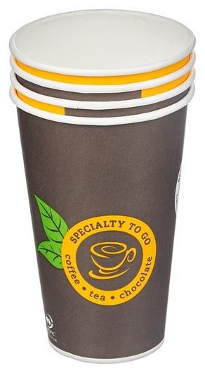 Стакан одноразовый бум однослойный D-90мм 400мл Coffee-to-go 50шт/уп  NNB
