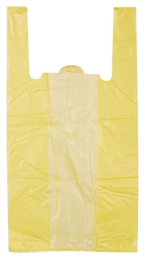 Пакет-майка пакет-майка, пнд, 30+14x57см, желтый,18 мкм, 100 шт./уп.  Знак качества
