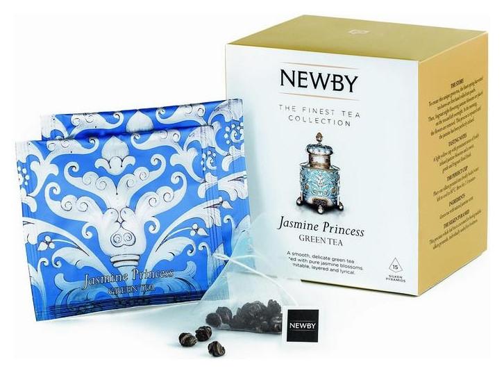 Чай Newby жасминовая принцесса зеленый с жасмином 15 пирамидок  Newby