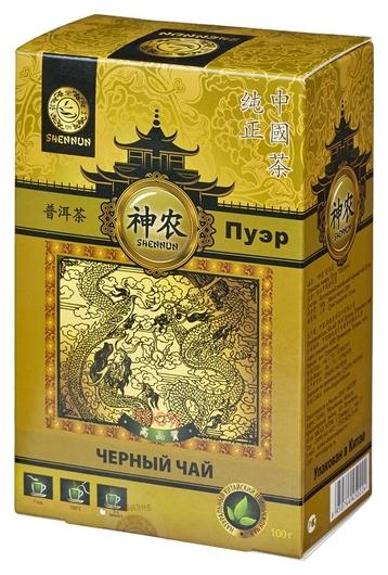 Чай Shennun пуэр, черный, 100 г. 13066  Shennun