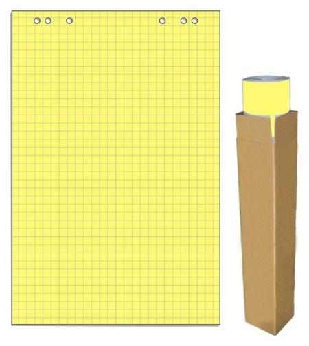 Бумага для флипчартов желтая пастель клетка 68.0х98.0 20 лист.80гр. Attache