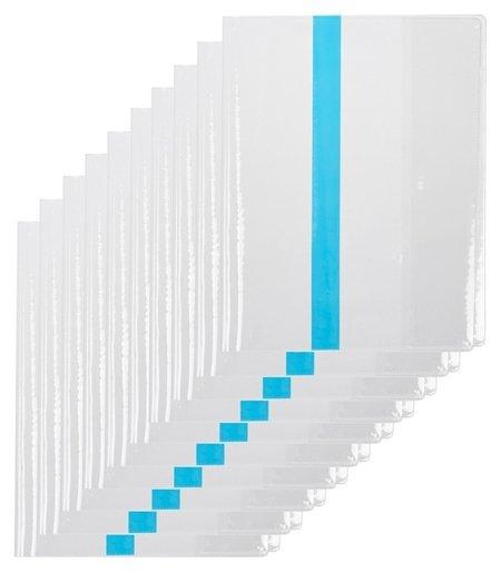 Обложка для учеб,мл.кл,цв.закладка,230х365,пвх,110мкм, 10шт/уп.  №1 School