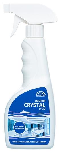 Профхим для стекл-зеркал поверхн,мытьё Dolphin/crystal (D019), 0,5л_т/р  Dolphin
