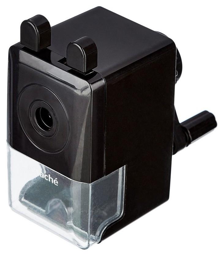 Точилка механическая Attache Economy, 8 мм, фиксация карандаша, чёрная  Attache