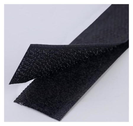Липучка, 20 мм × 50 см, цвет чёрный  Арт узор