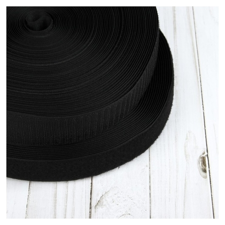 Липучка, 40 мм × 25 ± 1 м, цвет чёрный  NNB