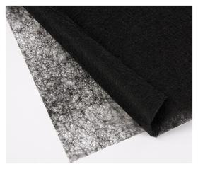 Паутинка клеевая, 32 гр/кв метр, 112 × 50 см, цвет чёрный  NNB