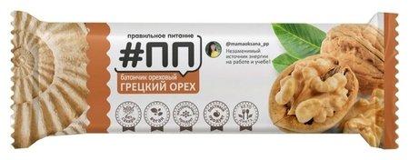 Батончик ореховый #ПП грецкий орех, 40г  Правильное питание ПП