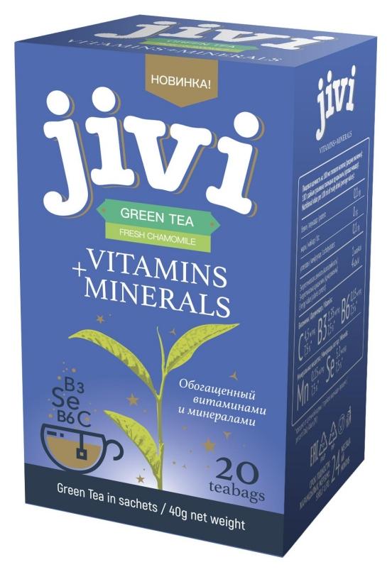 Чай Jivi зеленый байховый свежая ромашка, 20пак/уп 50-311  Jivi