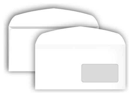Конверты С65 автомат пр.окно114х229 80г/м2,1000шт/уп Bong