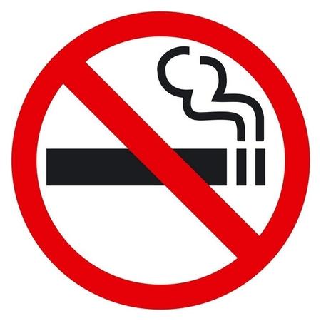 Знак безопасности P01 запрещается курить приказ 214 (Плёнка 200х200) уп10шт  Гасзнак