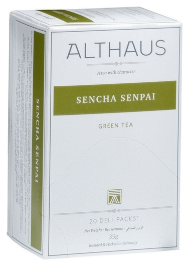 Чай Althaus Deli Packs Sencha Senpai 20 пакx1,75гр/уп  Althaus