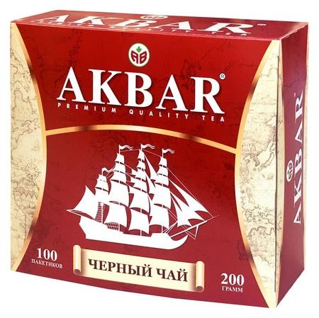 Чай Akbar черный, 100 пакx2гр/уп  Akbar