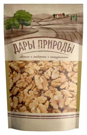 Орехи грецкий орех дары природы, 110г  Дары природы