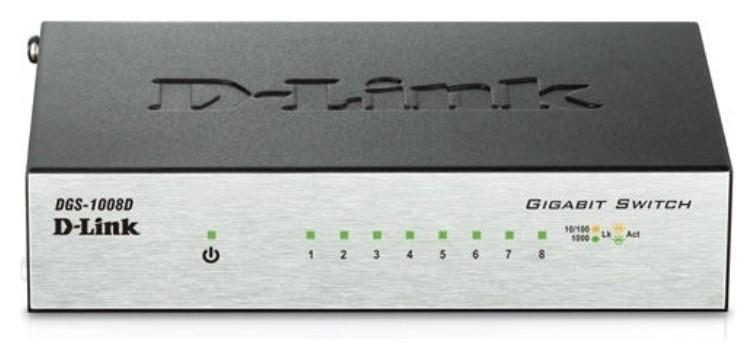 Коммутатор D-link Dgs-1008d/j3a 8G неуправляемый  D-Link
