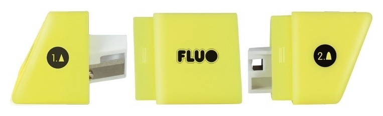 Точилка Milan Fluo Slide, 2 отверстия, пластик, цвет в ассорт.  Milan