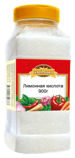 Приправа индана лимонная кислота, 900г  Индана