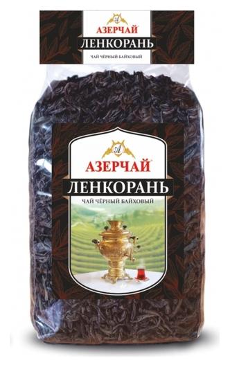Чай азерчай ленкорань черный крупнолист. прозрачная упаковка, 400г 414186  Азерчай